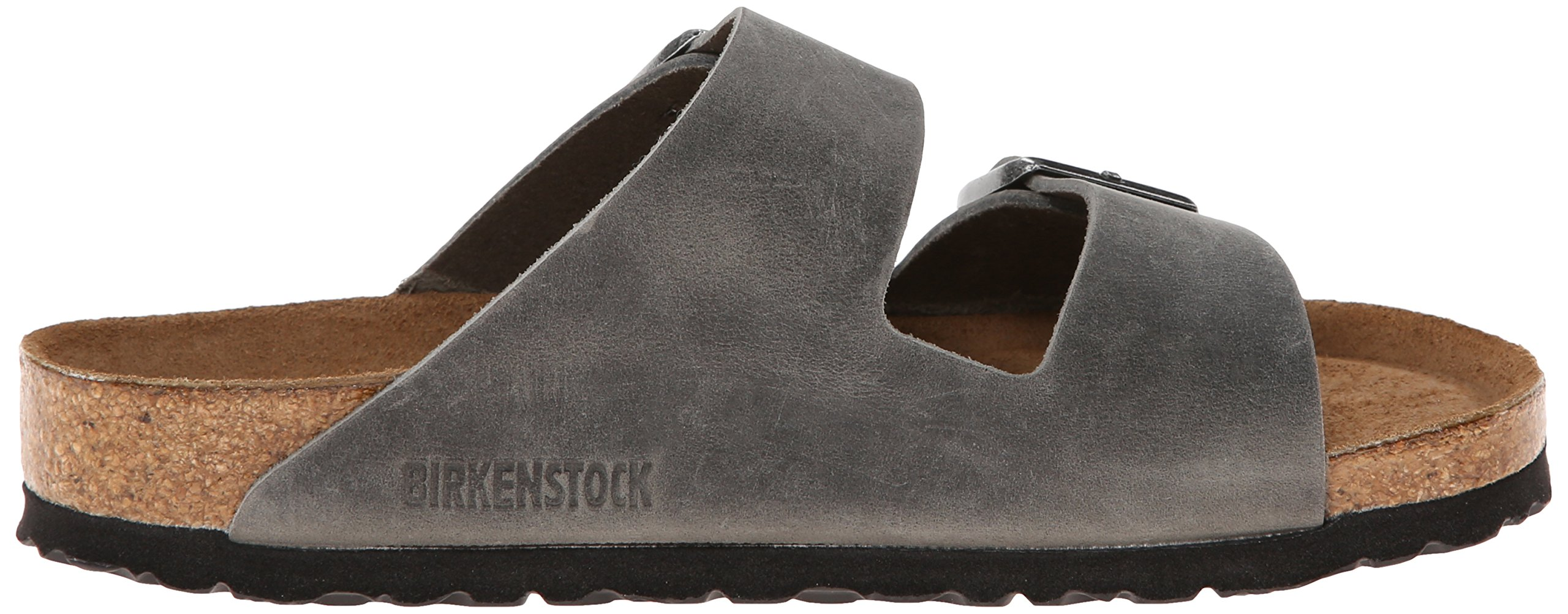 Birkenstock Unisex Arizona Iron Oiled Leather Sandals - 45 M EU/12-12.5 B(M) US Men by Birkenstock (Image #7)