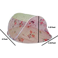 Healthy Sleeping Foldable Polyester Baby Mosquito Net (Light Pink)