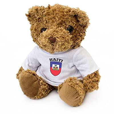 New - Haiti Flag - Teddy Bear - Cute Soft Cuddly - Gift Present Birthday Xmas Haitian: Toys & Games