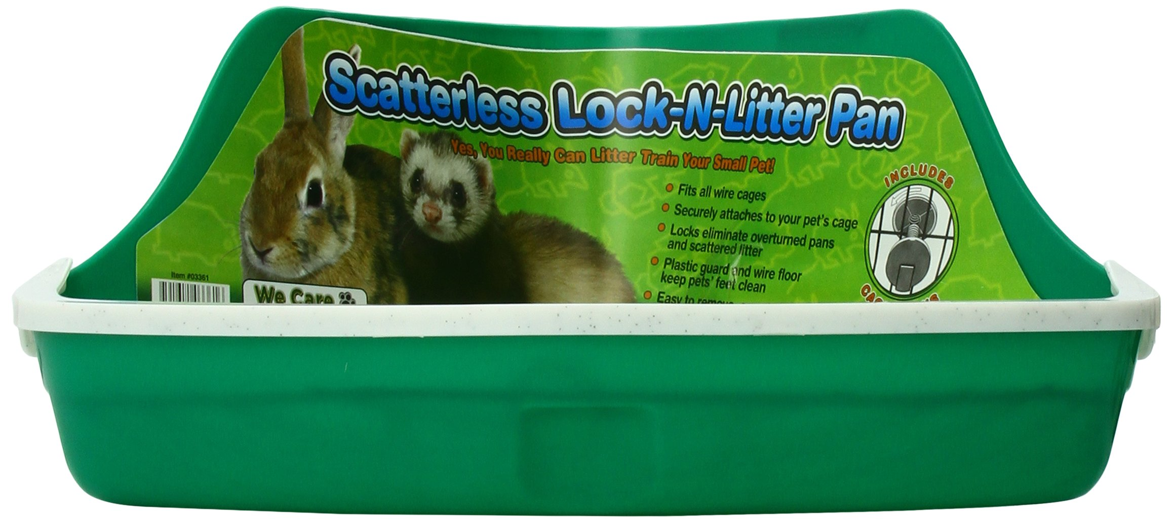 Ware Manufacturing Plastic Scatterless Lock-N-Litter Small Pet Pan- Colors May Vary 2