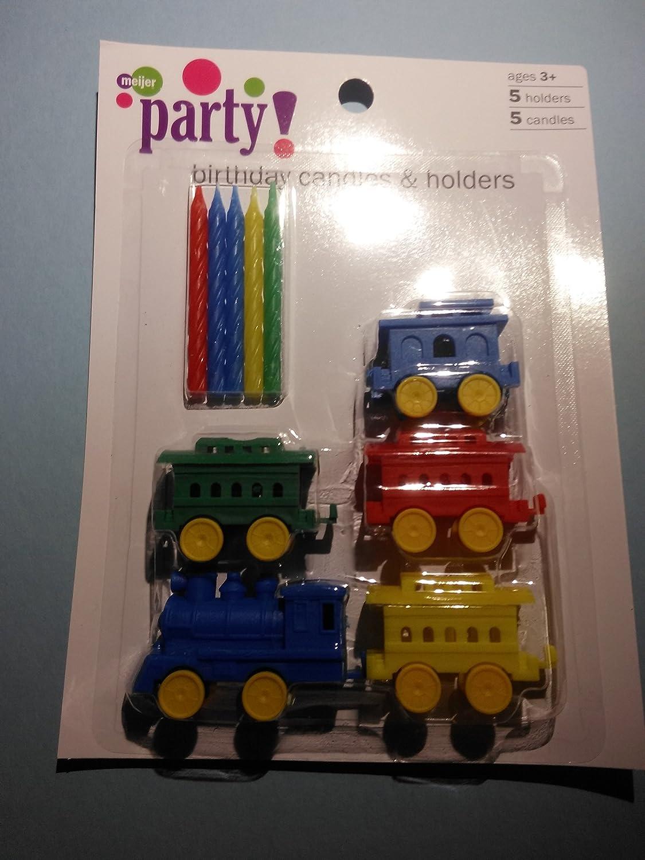 5 velas de cumpleaños y soportes de tren: Amazon.es: Hogar