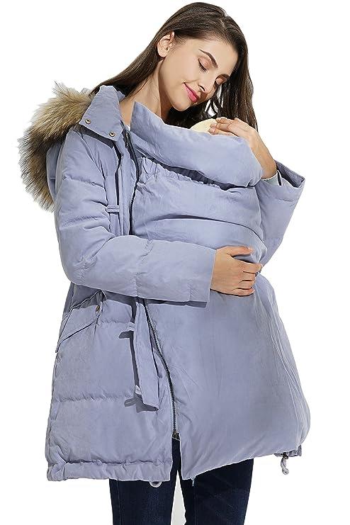 Sweet Mommy maternidad y madre de plumón abrigo con ...