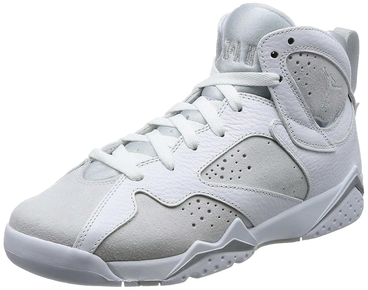 Jordan Air 7 Retro BG Boys Sneakers 304774-034 B0711VCSF7 5 M US|white/metallic silver-pure platinum