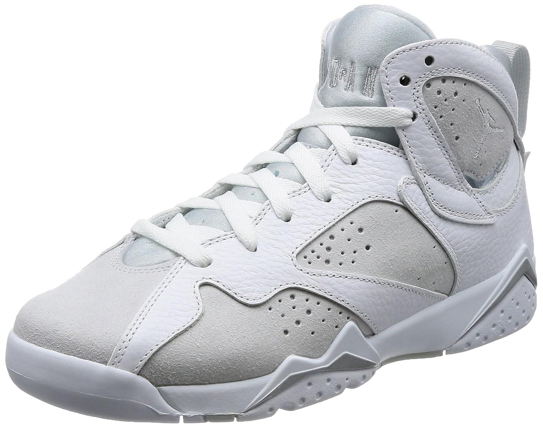 White Metallic Silver-pure Platinum Nike Men's Air Jordan 5 Retro Basketball shoes
