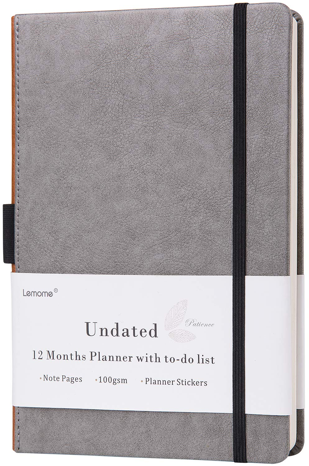 Planner 2019 - Academic Monthly & Weekly Planner with To Do List & Pen Loop, 5 Weeks a Month, 60 Weeks - Premium Thick Paper, 5.75'' x 8.25'', Gray