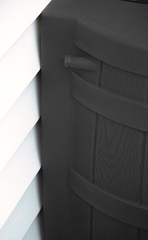 Black Good Ideas RW50-BLK Rain Wizard Rain Barrel 50-Gallon