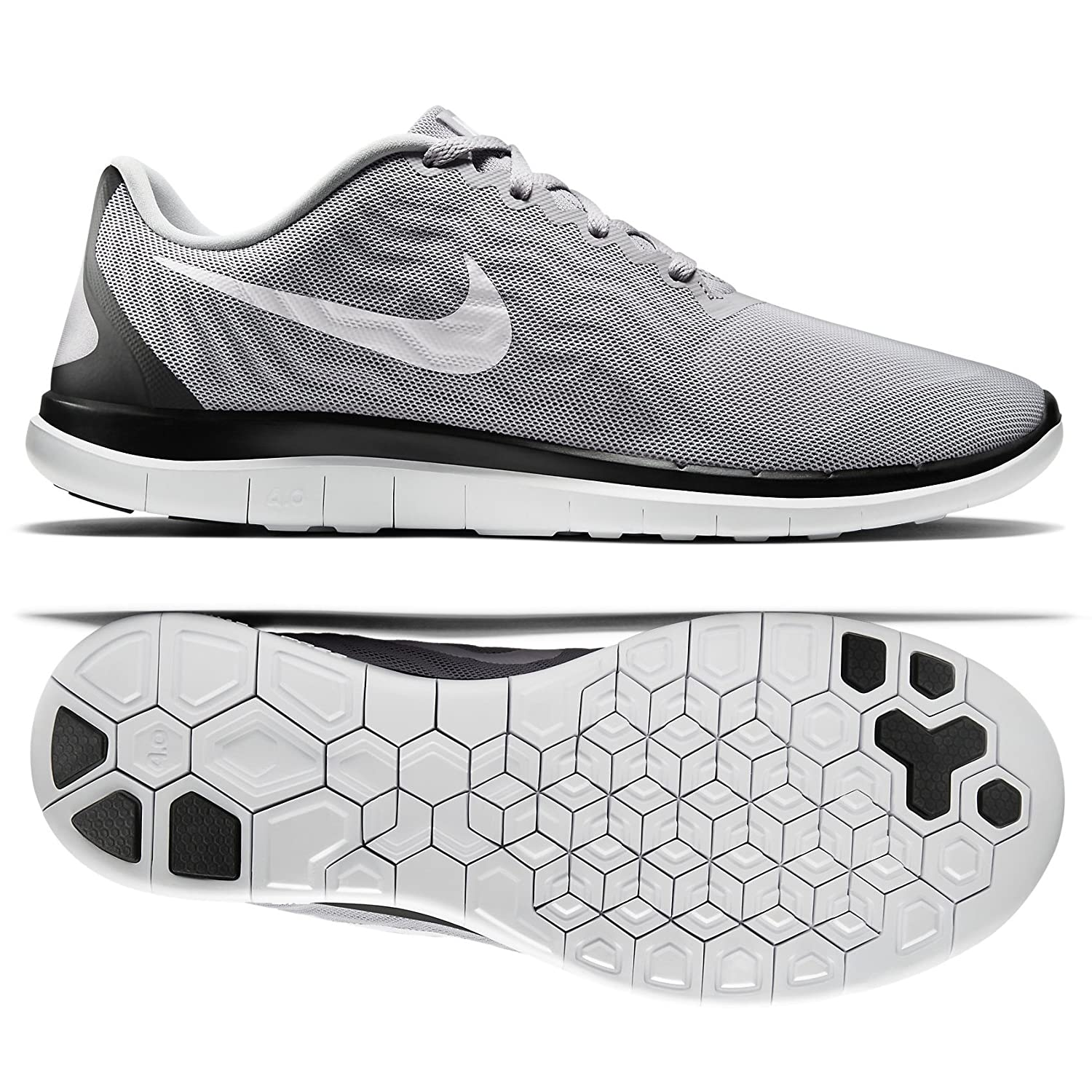 info for 32b0a 61cd9 Amazon.com   Nike Free 4.0 717988 010 Wolf Grey White Black Men s Running  Shoes (15)   Road Running