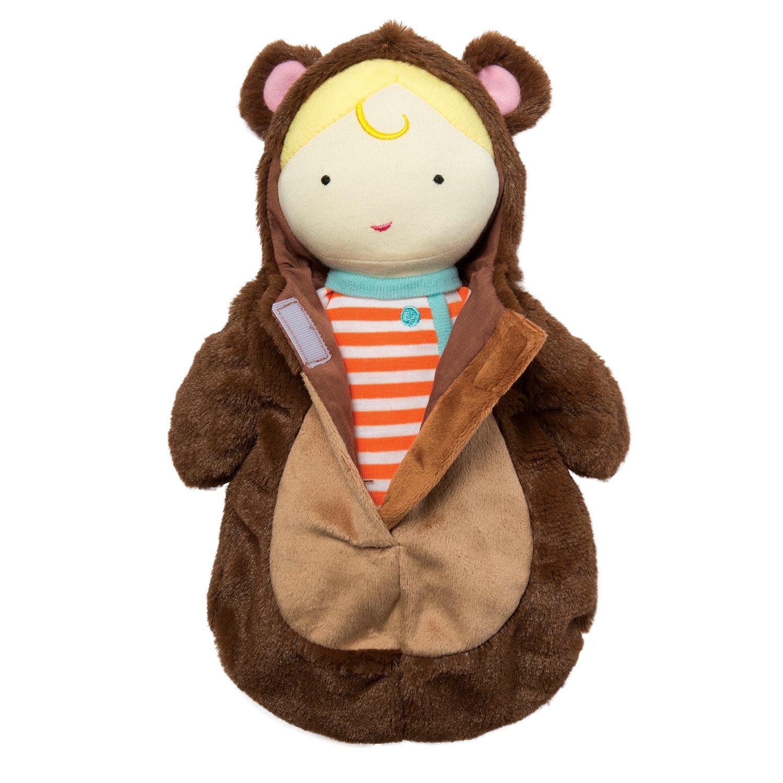 Amazon.com: Manhattan Toy Snuggle Baby Doll & Hooded Bear Sleep Sack ...