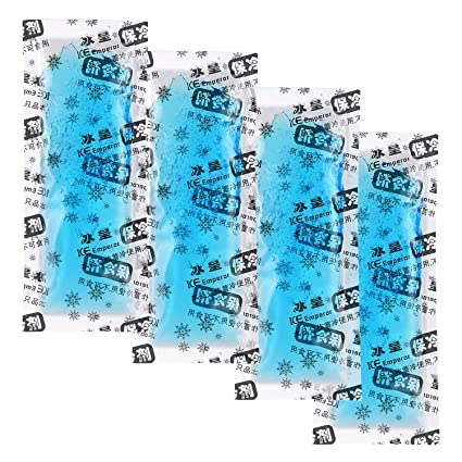 YOUSHARES Bolsas hielo de para insulina paquete con de gel instantáneo hielo o frío adecuado para la bolsa de almacenamiento de la insulina hielo(4 ...