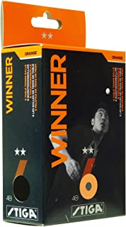 Stiga 2 Star Winner Table Tennis Balls - Pack of 6, Color- Orange