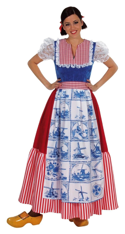 M210136 Damen Holländerin Kleid lang Holandkostüm