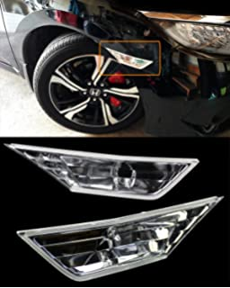 eLoveQ Front SIDE MARKER SIGNAL LAMPS T10 SMD LED BULBS FOR 2016-2019 HONDA CIVIC Smoked Lens with LED Bulbs