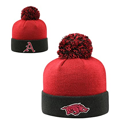 Arkansas Razorbacks 2-Tone  quot Rookie quot  Youth Beanie Hat POM POM -  NCAA 4bdddb2d4