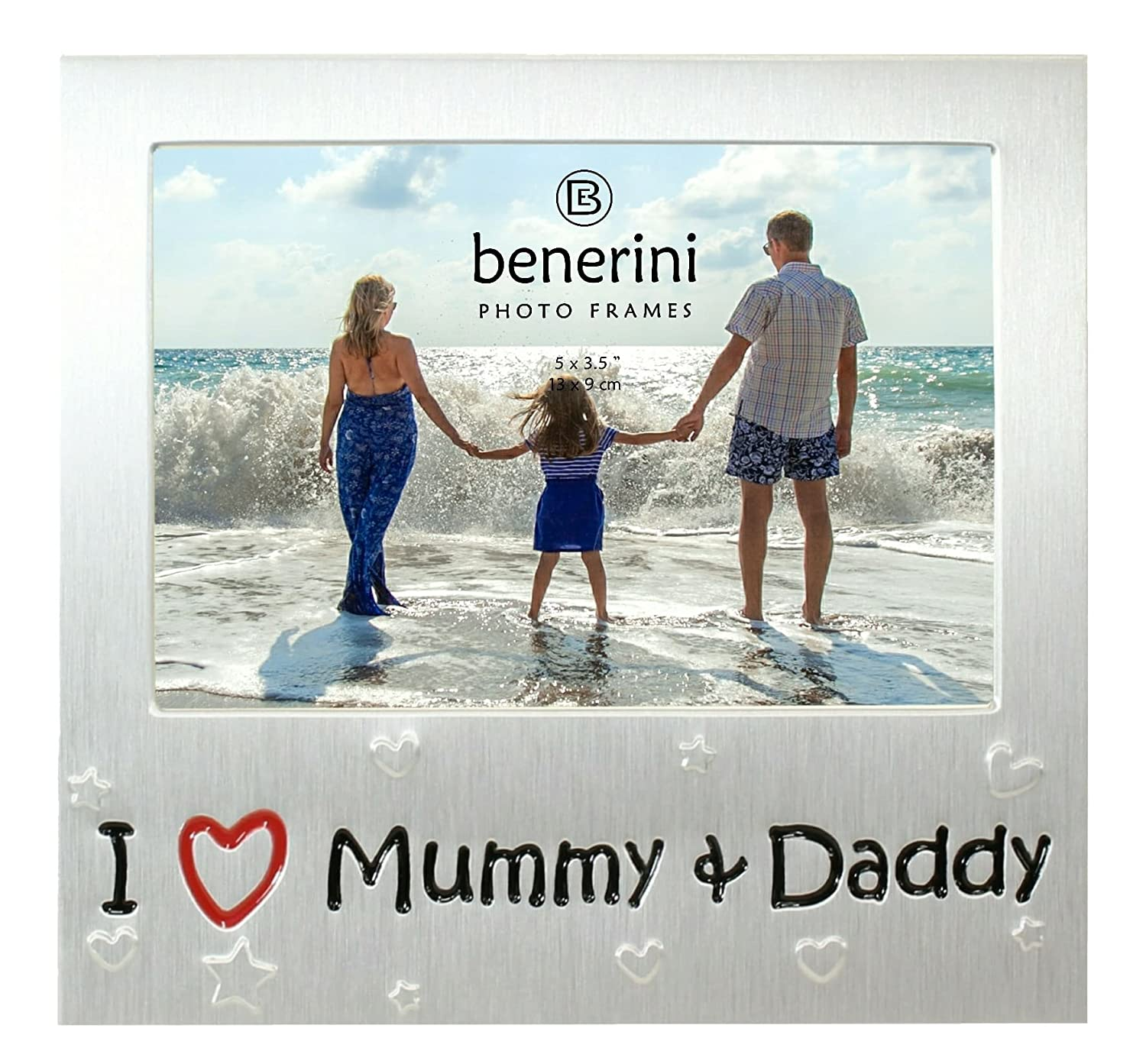 benerini ' I Love Mummy & Daddy ' - Photo Picture Frame Gift - 5 x 3.5
