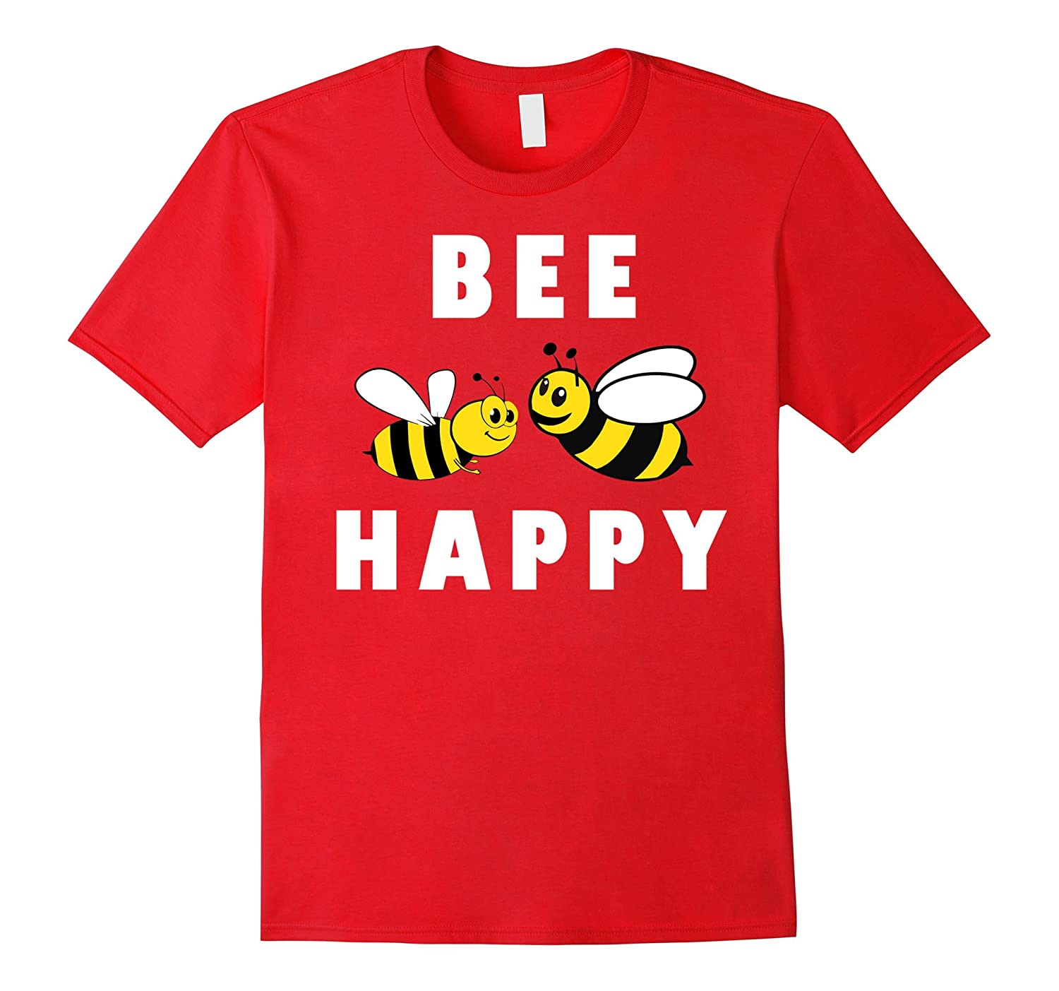Bee Happy T Shirt Cool new funny animal honey cheap gift tee-TH