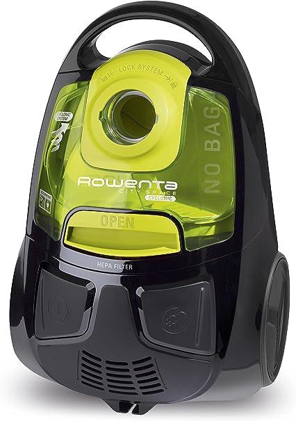 Rowenta RO2522WA Aspiradora, 2000 W, 1.2 L, 77 dB, color negro y amarillo: Amazon.es: Hogar