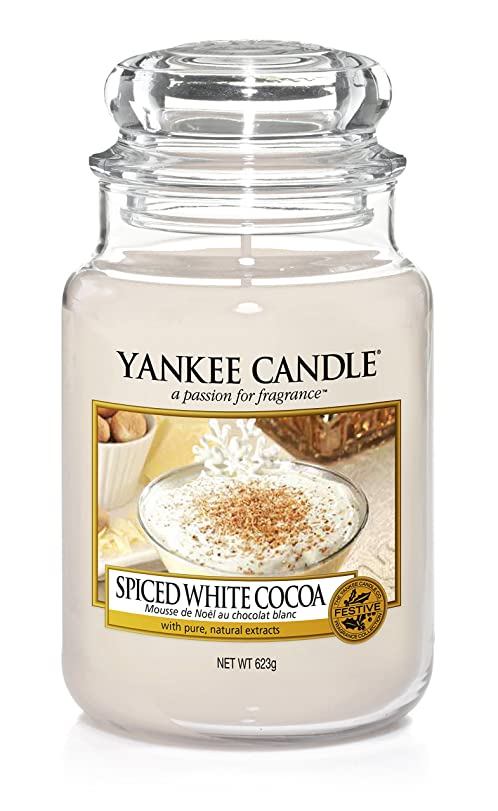 yankee candle classic jar spiced white cocoa cream