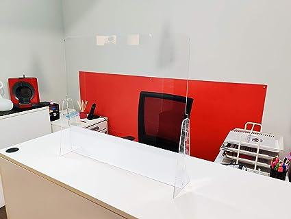 Mampara de protección Regulable - Mostrador, oficina, comercio, restaurante - Metacrilato transparente - 100x67cm a 100x82cm: Amazon.es: Industria, empresas y ciencia