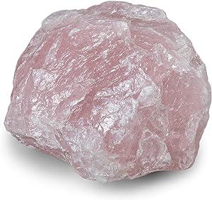 Rock Paradise Large Rose Quartz Natural Healing Crystal Chunk - Crystal for Home Decor, Meditation and Chakra Balancing - Raw Gemstone Crystal Decor
