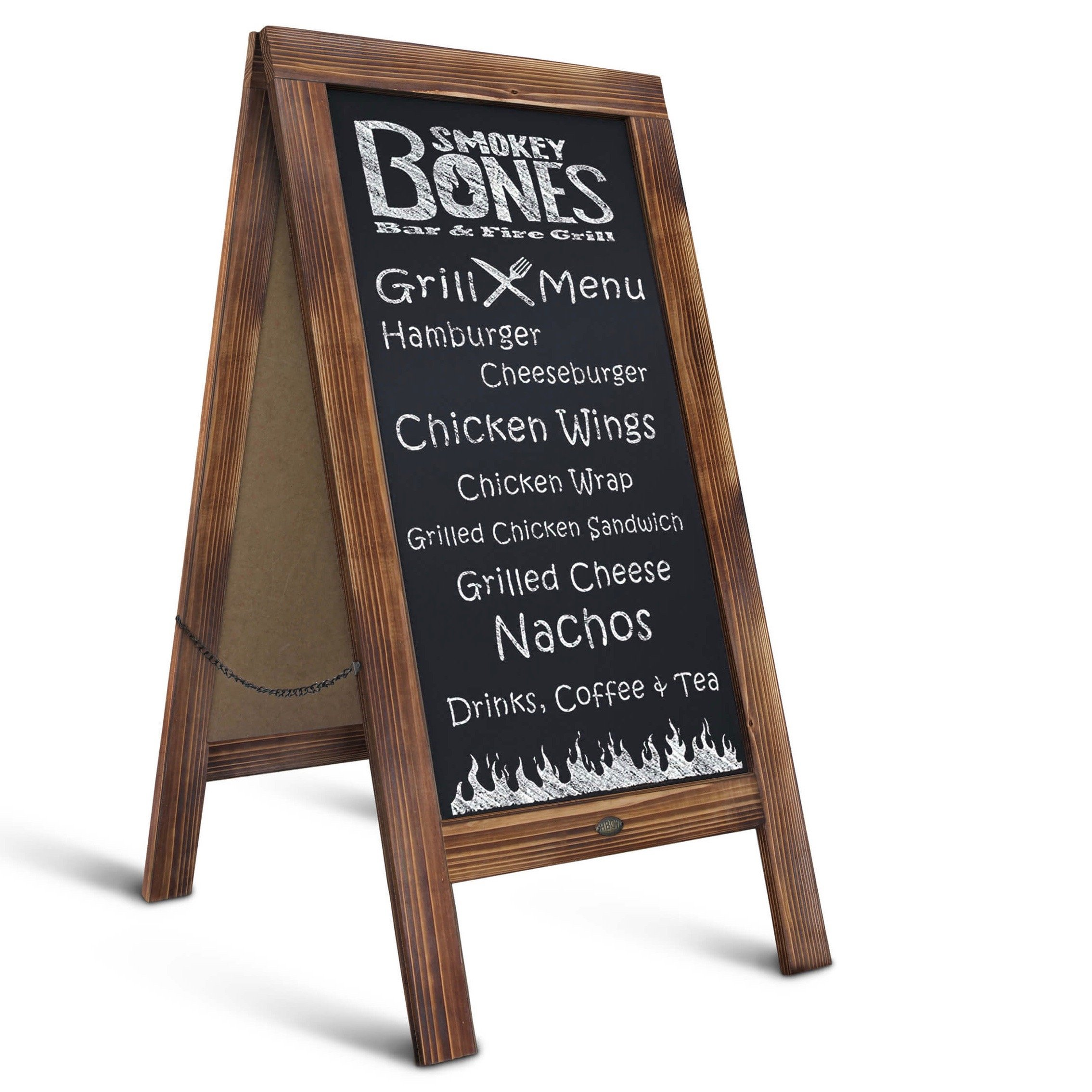 Rustic Magnetic A-Frame Chalkboard Sign/Extra Large 40'' x 20'' Free Standing Chalkboard Easel/Sturdy Sidewalk Sign Sandwich Board/Outdoor A Frame Chalk Board for Weddings & More!