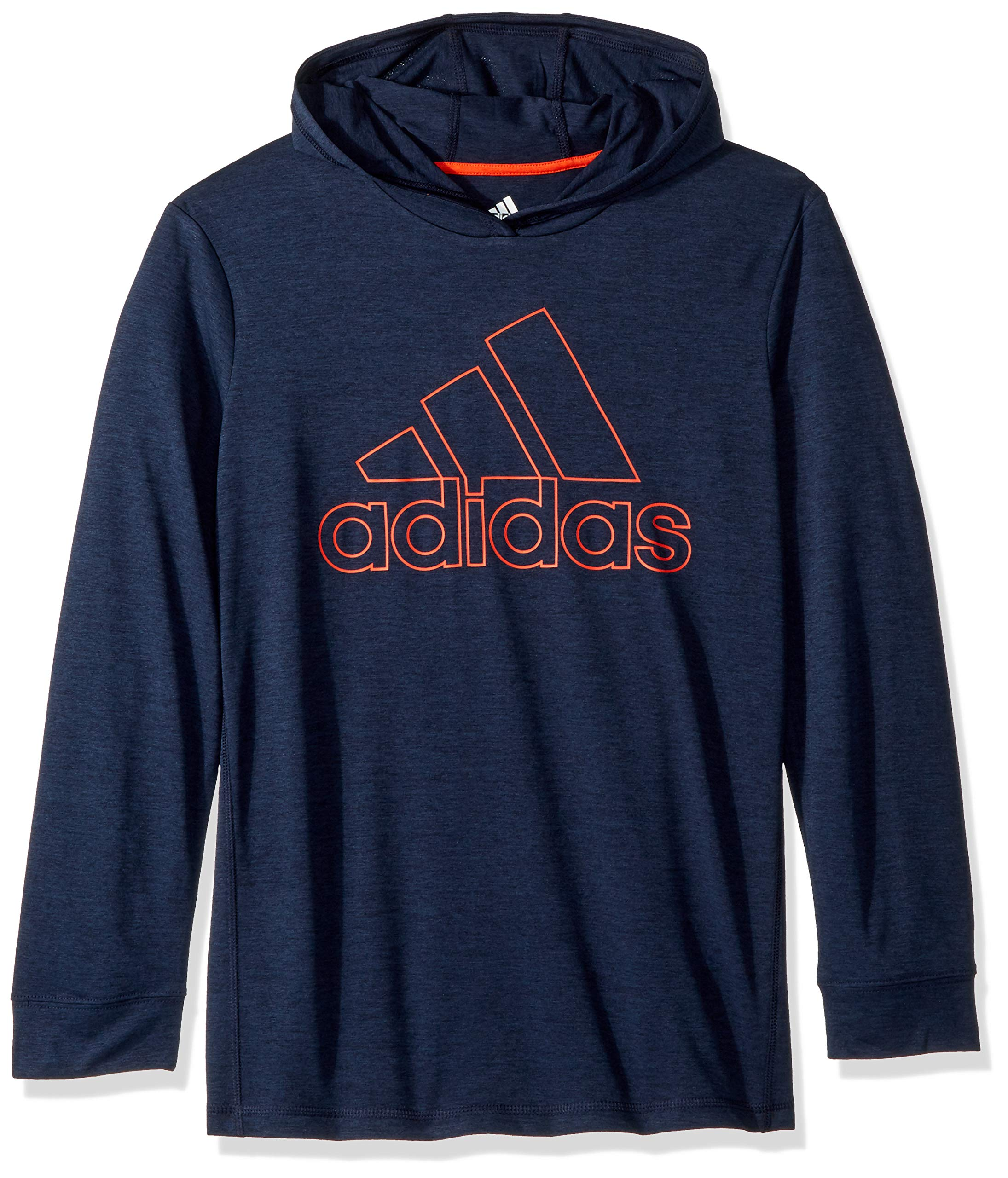 adidas Big Boys' Athletic Pullover Hoodie, Collegiate Navy Heather, XL(18/20)