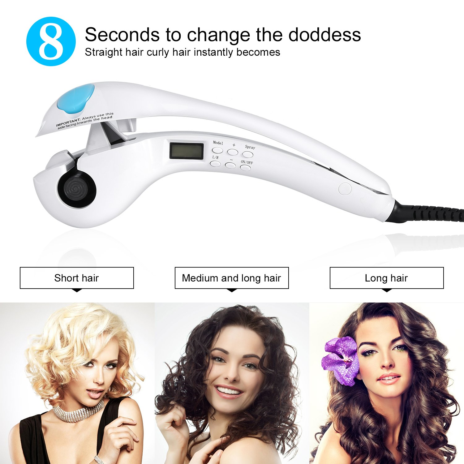 Amazon.com : Hair Curler, U-Kiss Professional Magic Automatic Curling Hair Rollers With Steam Function Anion Luxury Magic Waving Tools Achieve Beautiful ...