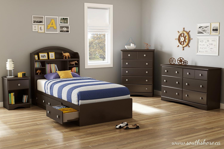 Amazon.com: South Shore Furniture Morning Dew Dresser, Chocolate: Kitchen U0026  Dining