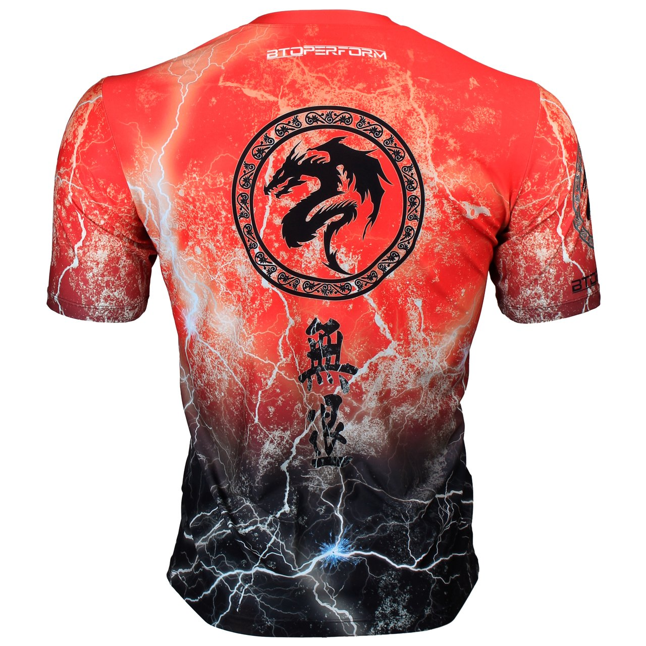 Btoperform Retreat Thunder Red Full Graphic Loose-Fit Crew Neck T-Shirts FR-303R