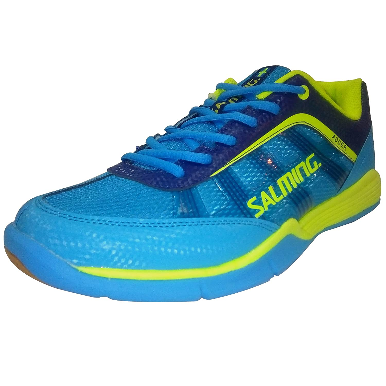 TALLA 43 1/3. Chaussures Salming Adder Men cyan/jaune
