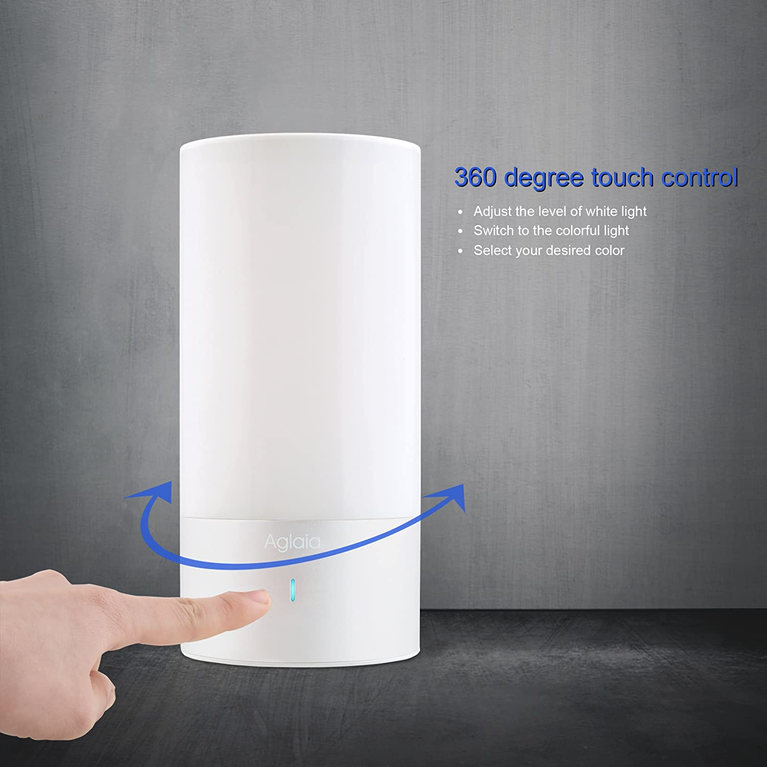 Touch Light Sensor Aglaia Table Lamp Touch Sensor Bedside Lamp Dimmable Amazonco