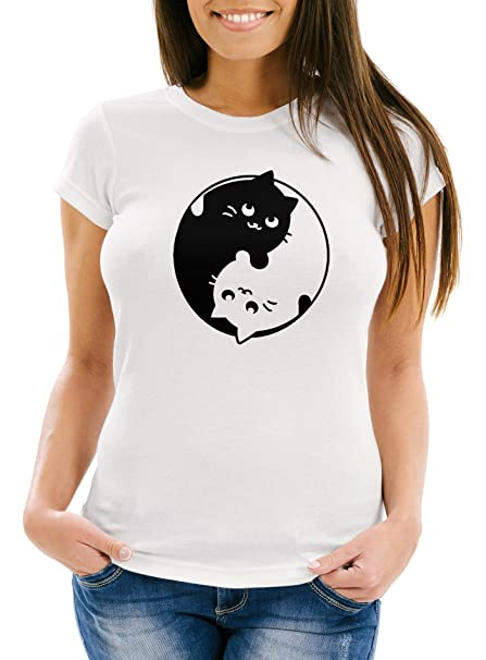 Katzen  T-Shirt Shirt für Katzenfan  Fan Damen T-Shirt für Katzen