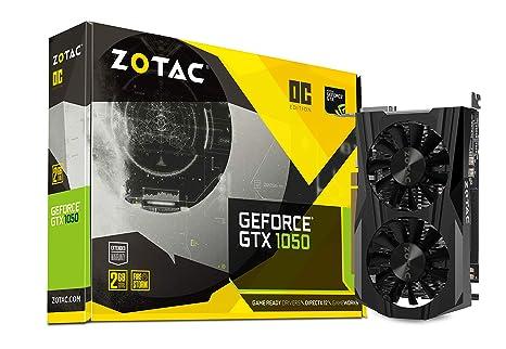Zotac GeForce GTX 1050 OC 2 GB GDDR5 - Tarjeta gráfica (GeForce GTX 1050, 2 GB, GDDR5, 128 bit, 7000 MHz, PCI Express 3.0)