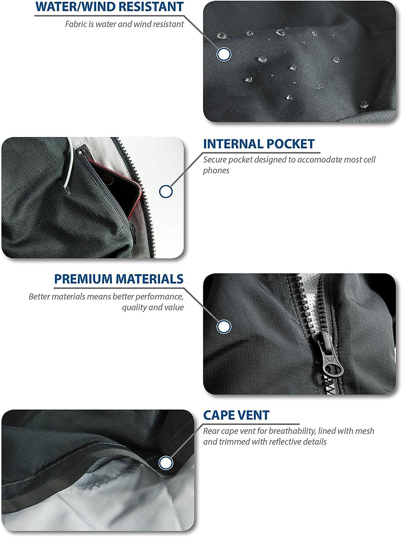 Peak Velocity Mens Zephyr Windbreaker Loose-Fit Jacket Brand
