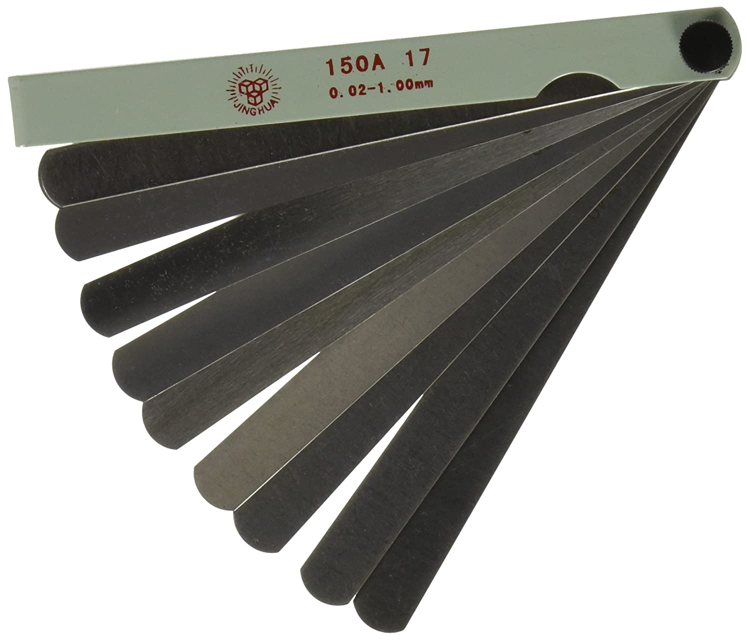 Ltd Uxcell 17 Blades Metallic Feeler Gauge 0.02mm to 1.0mm//5.8 0.02mm to 1.0mm//5.8 Dragonmarts Co // Uxcell a14022800ux0660