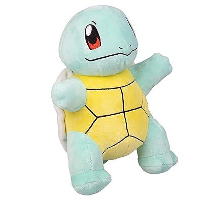 WCT - WT95224 Plush Pokémon Squirtle, Multicolored (Blue / Yellow / Black), 20 cm: Toys & Games