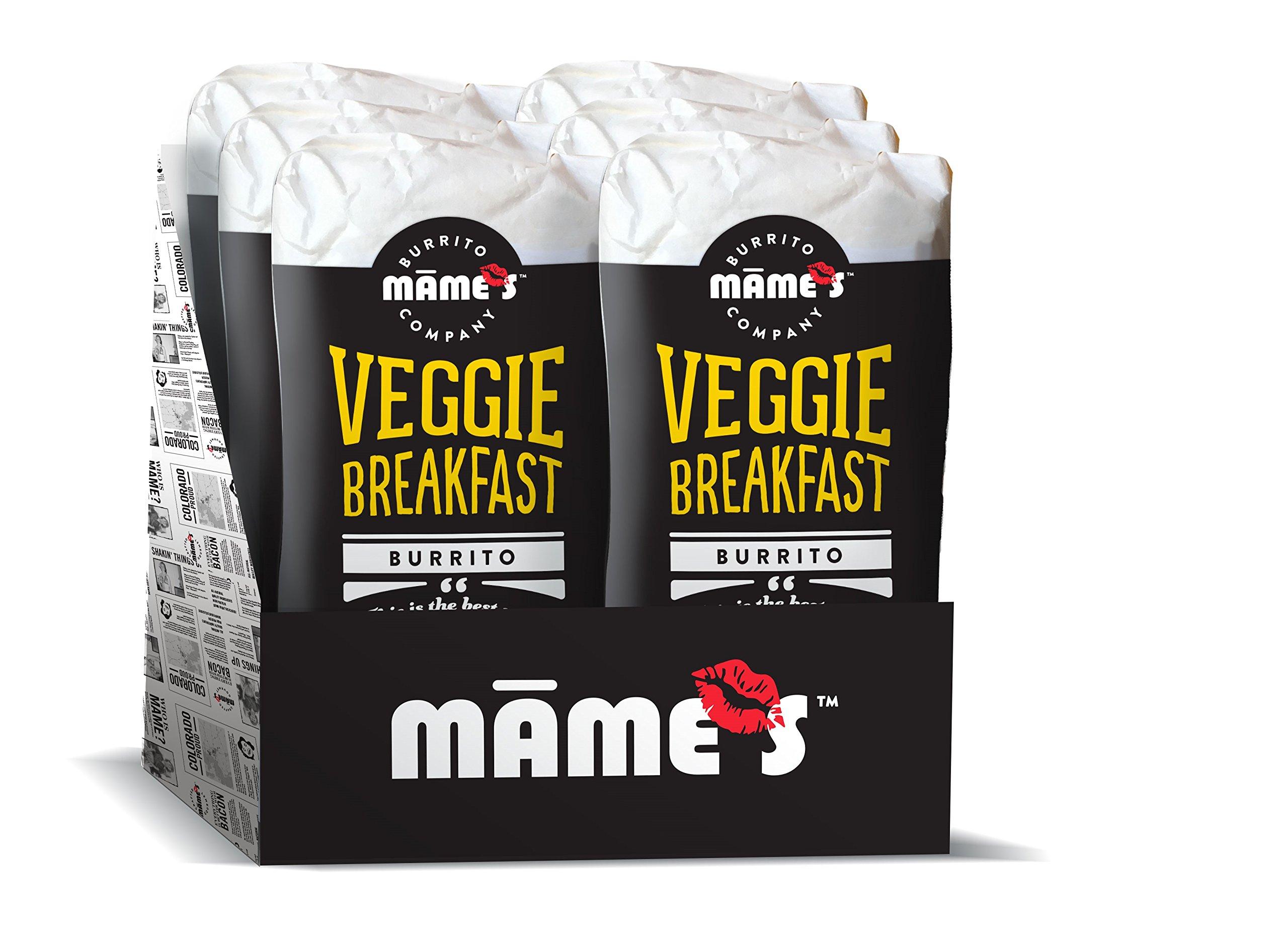 Mame's Burrito Company Veggie Breakfast Burrito, 7 Ounce (Pack of 12) by Mame's Burrito Company