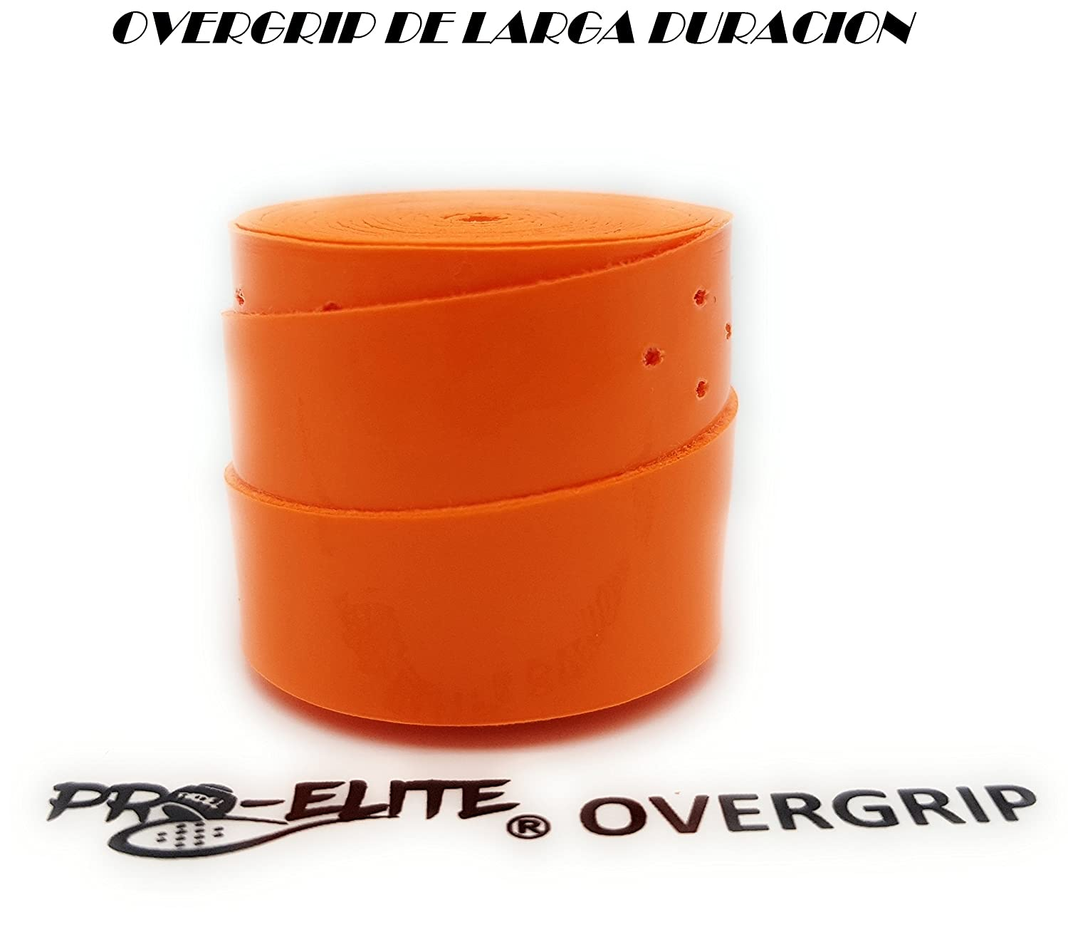 overgrip Pro Elite Premium Perforado Naranja Flúor: Amazon.es ...