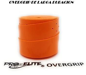 overgrip Pro Elite Premium Liso Naranja Flúor: Amazon.es ...
