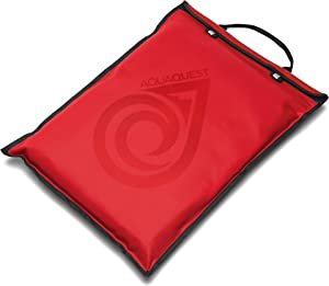 """Aqua Quest Storm Laptop Sleeve - 100% Waterproof, Lightweight, Durable, Padded Case - Protective Computer Pouch Cover Bag - 15"""" Red"""