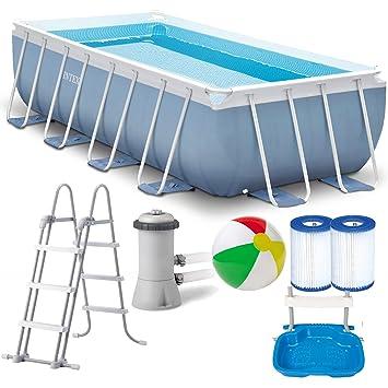 Intex Prism Frame Swimming Pool 400x200x100 Cm Rechteck Stahlwand