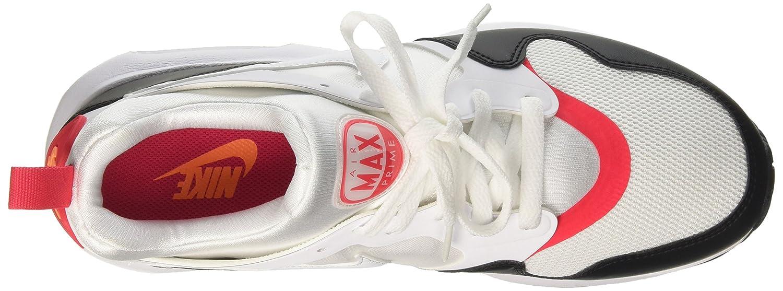 NIKE Men's Air Max Prime Running Shoe B00161UBBK 8.5 D(M) US White/White Siren Red Black