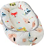 Little Archer & Co. Newborn Baby Nest - Easy to Move, Ideal for Co-Sleeping, Breathable and Soft, 100% Cotton and Eco-Friendly (Animal Print)