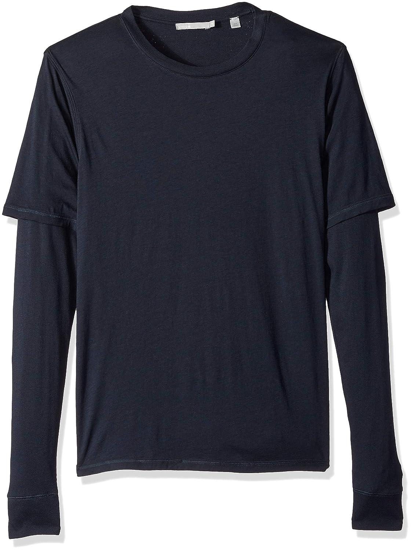 Vince Men's Cotton Double Layer Long Sleeve Tee M45909462