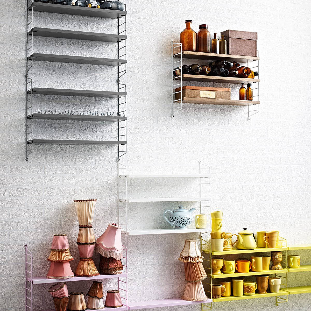 String Pocket Shelf 60x50x15cm White/lacquered/WxHxD 60x50x15cm:  Amazon.co.uk: Kitchen U0026 Home