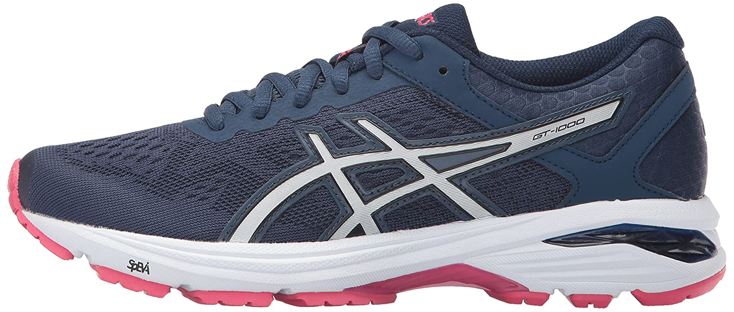ASICS Women's GT-1000 6 B(M) Running Shoe B01N02III6 7 B(M) 6 US|Insignia Blue/Silver/Rouge Red 01015d