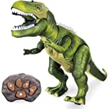 Windy City Novelties LED Light-up Walking & Roaring T-Rex Dinosaur toys for boys and girls (T-Rex with Remote)