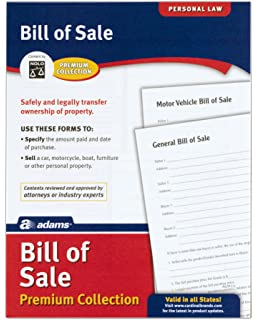 Amazoncom Motor Vehicle Bill Of Sale USA Doityourself Legal - Bill of sale legal document