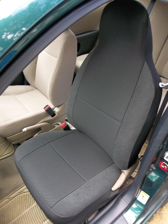 Housse de Siège avant Auto Économiseur Protection Siège-auto Noir Polyester
