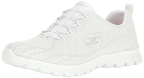 Calzado deportivo para mujer, color Blanco , marca SKECHERS, modelo Calzado Deportivo Para Mujer SKECHERS EZ FLEX 30 ESTRELLA Blanco: Amazon.es: Zapatos y ...