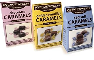 product image for AvenueSweets - Handcrafted Individually Wrapped Soft Caramels - 3 x 8 oz Boxes - Trio